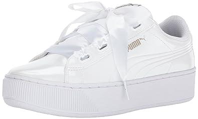 Puma Unisex-Erwachsene Vikky Platform Ribbon P Sneaker, Weiß White White 02, 38.5 EU
