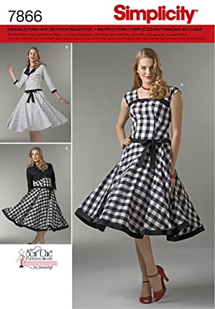 Burda Simplicity s7866.p5 Schnittmuster Kleid/Jacke Vintage Papier ...