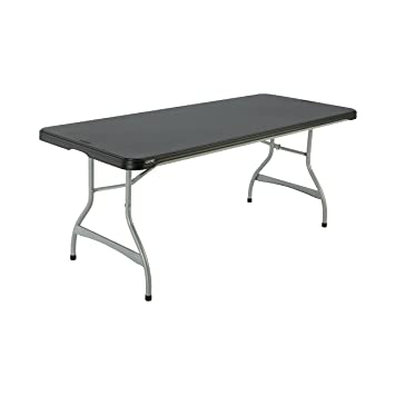 Lifetime Products 280350 Commercial Stacking Folding Table, 6u0027, Black