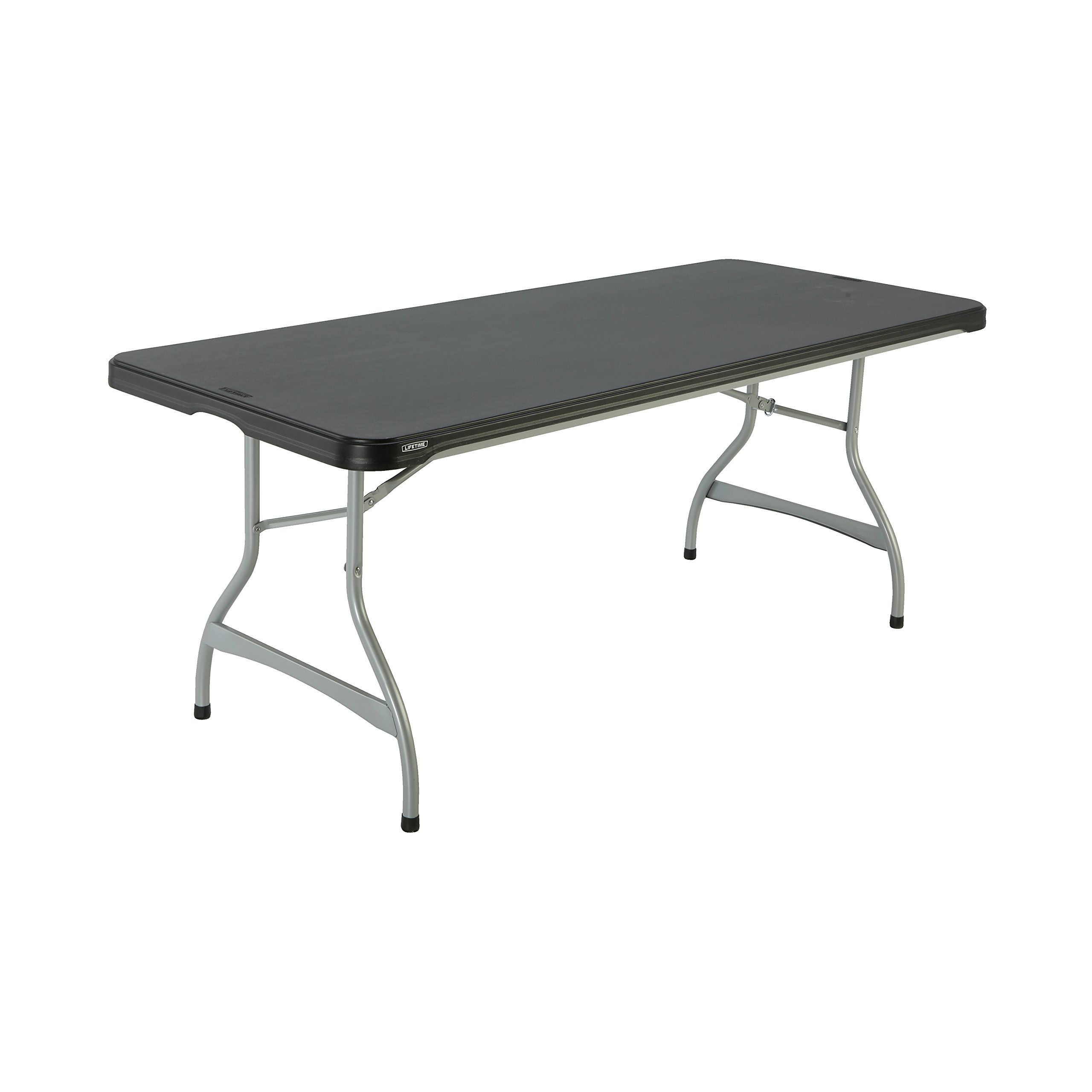 Lifetime Products 480350 Commercial Rectangular Folding Table (4 Pack), 6', Black