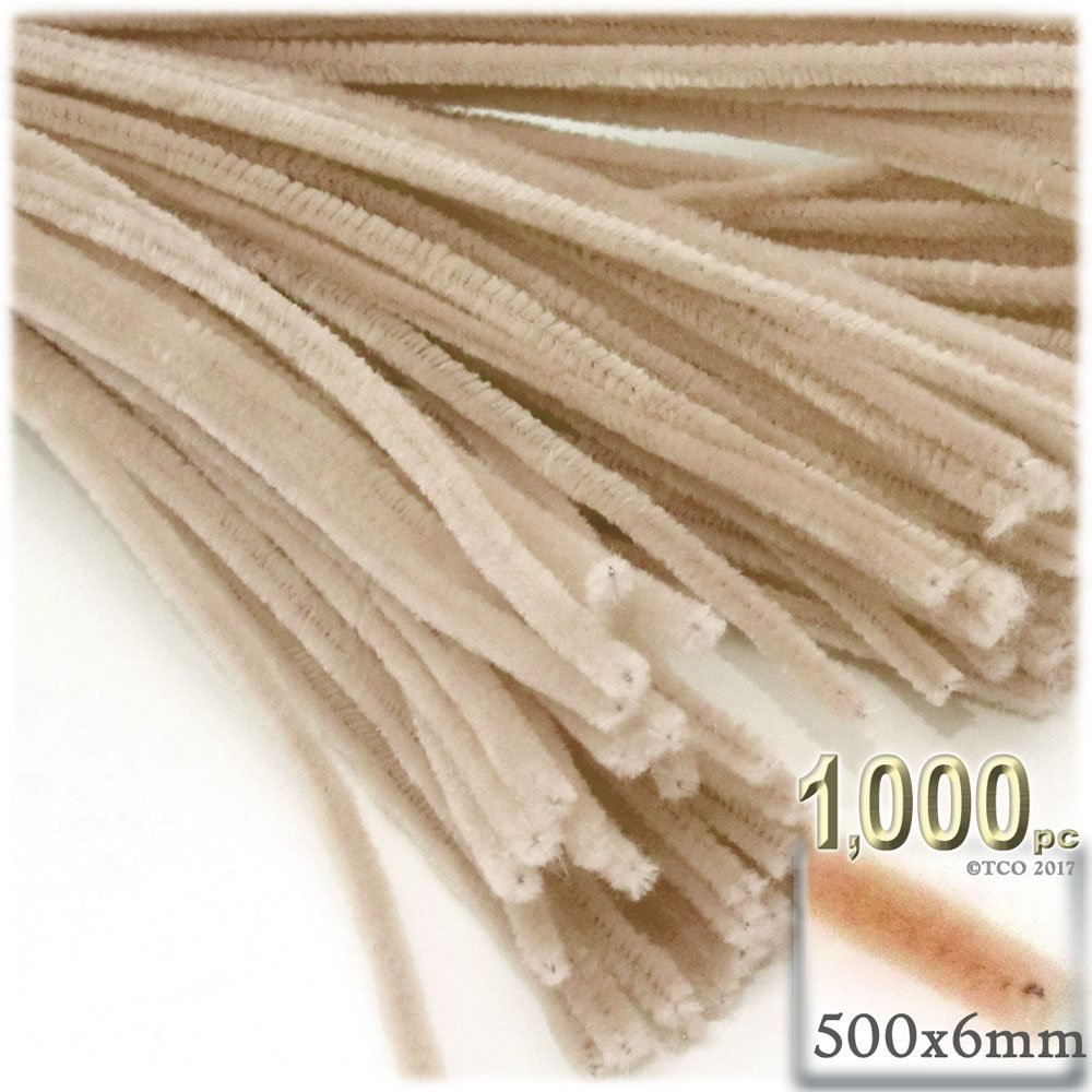 The Crafts Outlet Chenille Stems, Pipe Cleaner, 20-inch (50-cm), 1000-pc, Tan by The Crafts Outlet (Image #1)