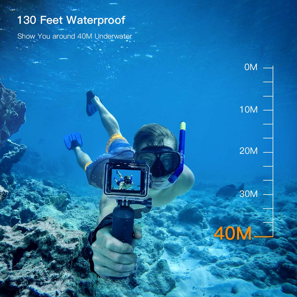 APEMAN A79 4K Action Camera 16MP WiFi External Microphone Remote Control Underwater 40M Waterproof
