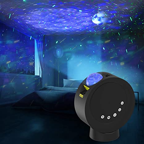 Star Projector Galaxy Moon Night Light For Kids Bedroom Remote Control 4000mah Battery Nebula Projector Lamp For Game Room Party Decor Mood Lighting Ambiance Gift For Children And Adults Black Home