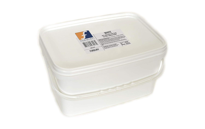Sciogli e Versa Forbury 6kg Base per Sapone di glicerina Base per Saponette Bianco Senza SLS Melt And pour Soap Base White Opaque