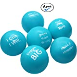 Pure Origins | Motivational Stress Balls | Hand Exercise|Gift 6-Pack |Fidget Accessory for Stress Relief, Special Needs, Concentration, Anxiety, Motivation, ADHD, Autism and Team Building (Scuba Blue)