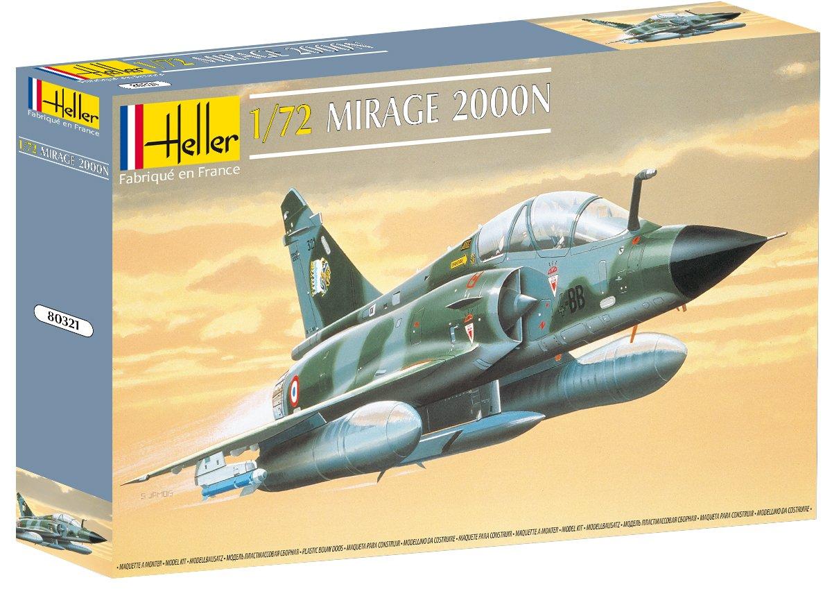 Heller 80321 - Modellino da costruire, Aereo Mirage 2000 N, scala 1:72 [Importato da Francia] HR80321