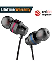 Earbuds,Comfortable&Tangle-Free Wired Hi-Fi in-Ear Running Headphone,Crystal Clear Sound Earphone for Workout Sports Jogging Gym