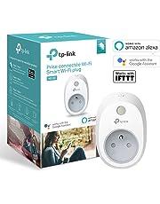 TP-Link HS100(FR) Prise connectée WiFi, Charge maximale 16A, compatible avec Amazon Alexa (Echo et Echo Dot), Google Assistant et IFTTT pour la commande vocale, aucun hub requis