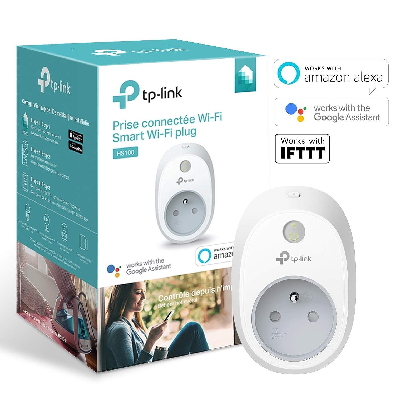 TP-Link Prise connectée WiFi avec mesure de consommation, fonctionne avec  Alexa (Echo et Echo Dot), Google Assistant et IFTTT pour la commande vocale, aucun hub requis, contrôle vos appareils connectés depuis n'importe où - HS11