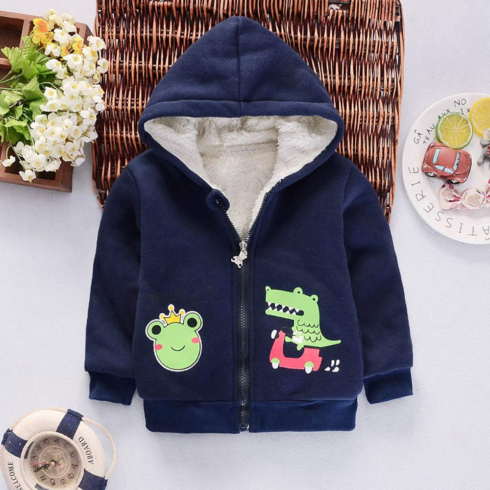 Amazon.com: Newborn Baby Warm Coat, Cartoon Animal Print ...