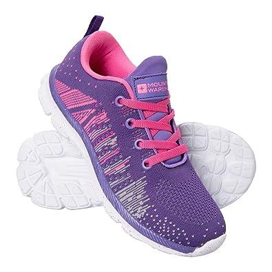 Mountain Warehouse Baskets Enfant Fille Garçon Chaussures Sport Knitted  Rose 32