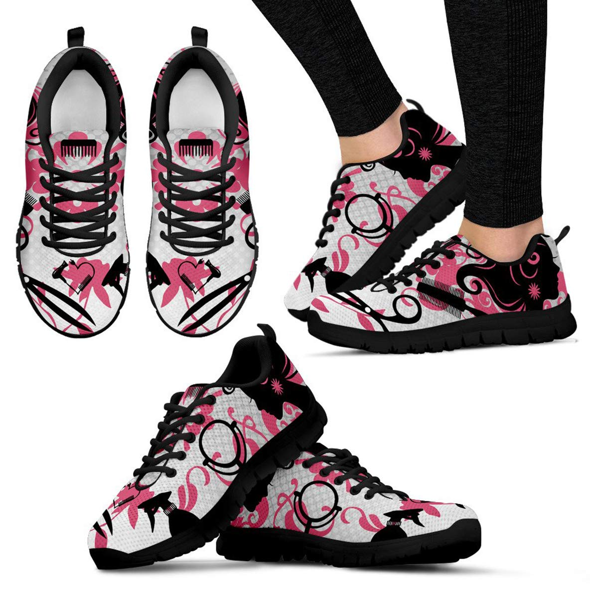 Footwear by Chelsydale Hairstylist Gift Ideas Women Sneakers Shoes for Hairdresser Beautician Bk