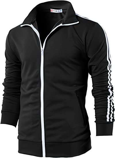 NEW Champion Men/'s Two Stripe Full Zip Athletic Track Jacket VARIETY SZ//Color!