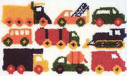 26-1//2-Inch by 16-Inch M C G Textiles Latch Hook Kit Traffic Jam