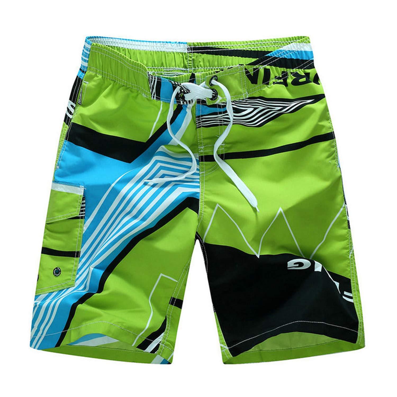 New Summer Beach Mens Shorts Printing Casual Quick Dry Board Shorts Mens Short Pants