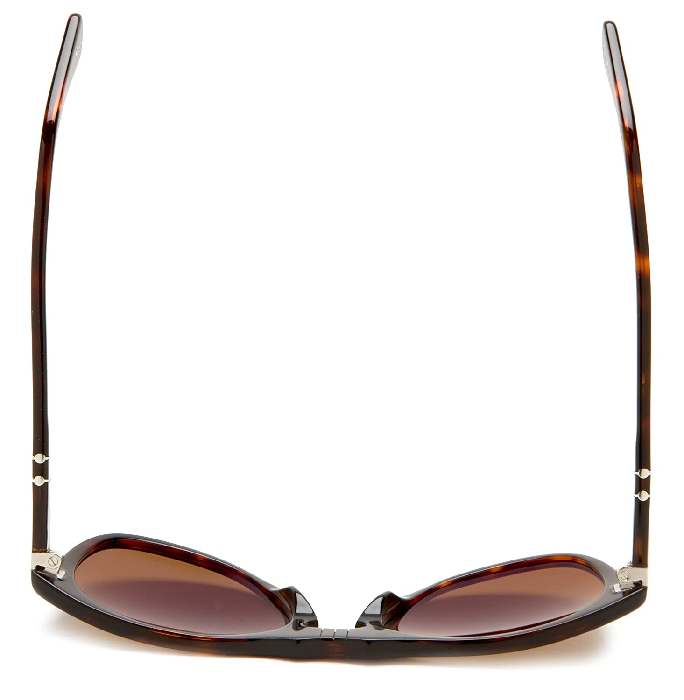 ff1c803eb49c Amazon.com: Persol Men's 0PO0649 24/57 Polarized Round Sunglasses,Havana/Crystal  Brown Polarized Lens,52 mm: Persol: Clothing