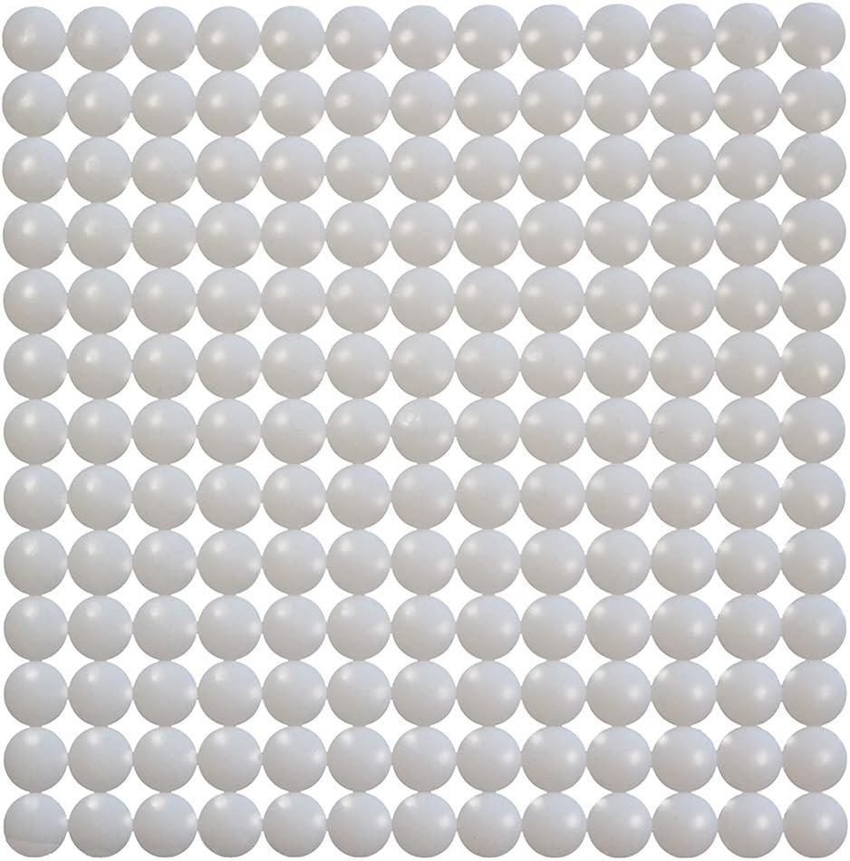 Blanc 100/% Polyester 32 x 32 cm ID Mat Tapis Fond d/évier