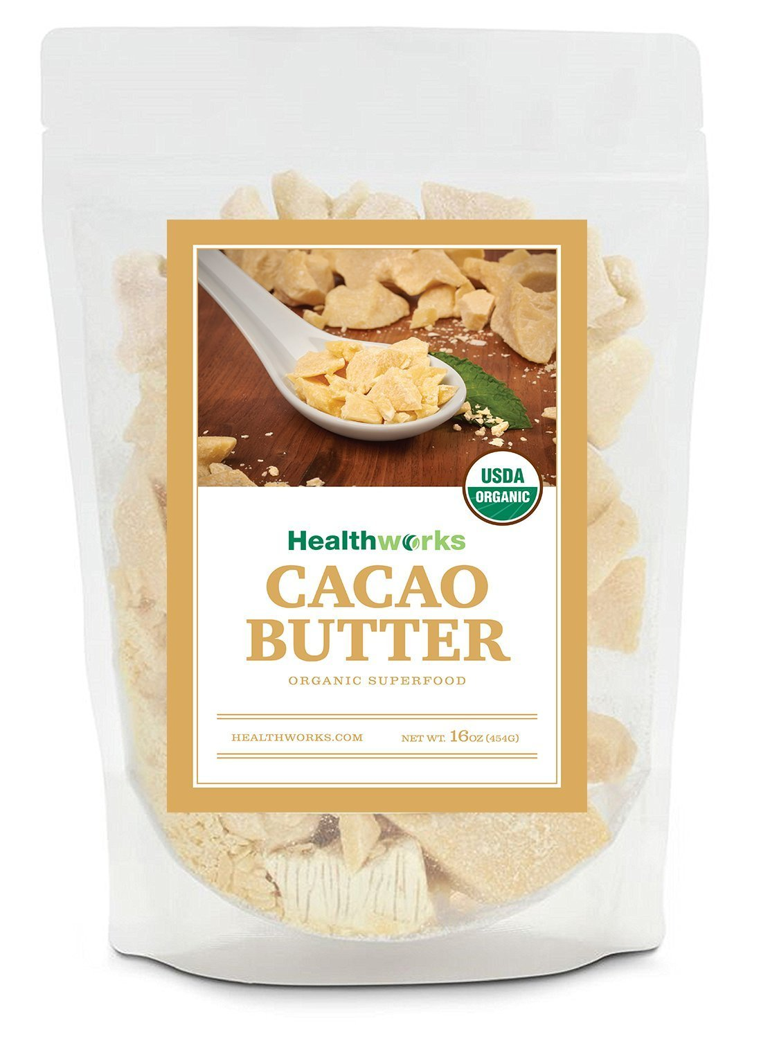 Healthworks Cacao Butter Organic, 1lb