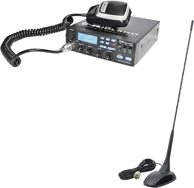 PNI Paquete de Radio CB Midland Alan 48 Multi Plus B Extra ...