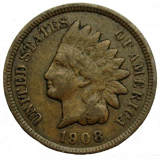 8aab8d650dd9a 1908 US Indian Head Cent / Penny Coin