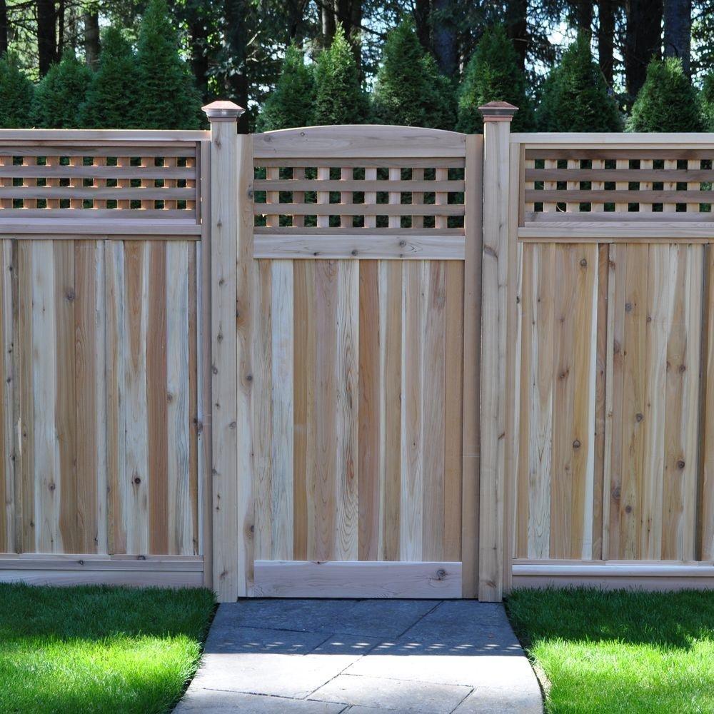 Amazon Com 3 Ft X 6 Ft Western Red Cedar Arch Top Checker Lattice Fence Gate Industrial Scientific