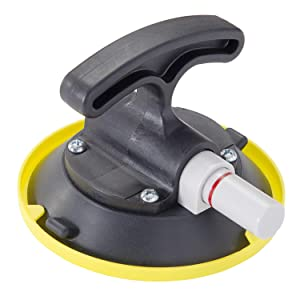 """IMT 4.5"""" Suction Cup Pump Active, T-Handle Vacuum Lifter with Concave Plate for Flat/Curved Surface, Car Dent Puller/Glass Holder Hooks"""