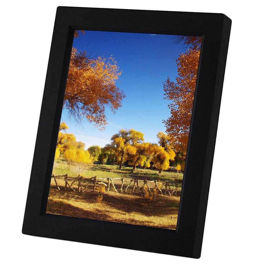 Kwanwa - Marco fotografías grabable para fotografías de 5 x 7 pulgadas, color negro.