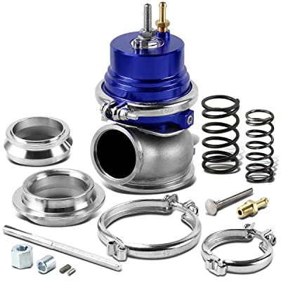 60mm Bolt-on 5/12/14 PSI External Turbo Exhaust Manifold Wastegate (Blue): Automotive