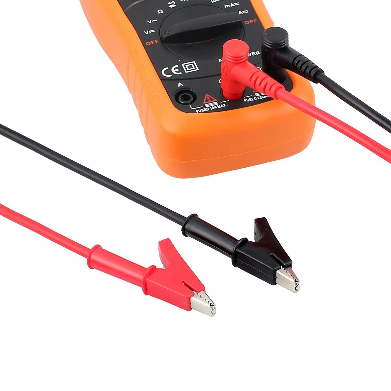 Juego de Cables de Prueba Electrónica de 18, Multímetro Digital Cables con Pinzas de cocodrilo de Las sondas del Multímetro Puntas reemplazables Puntas ...