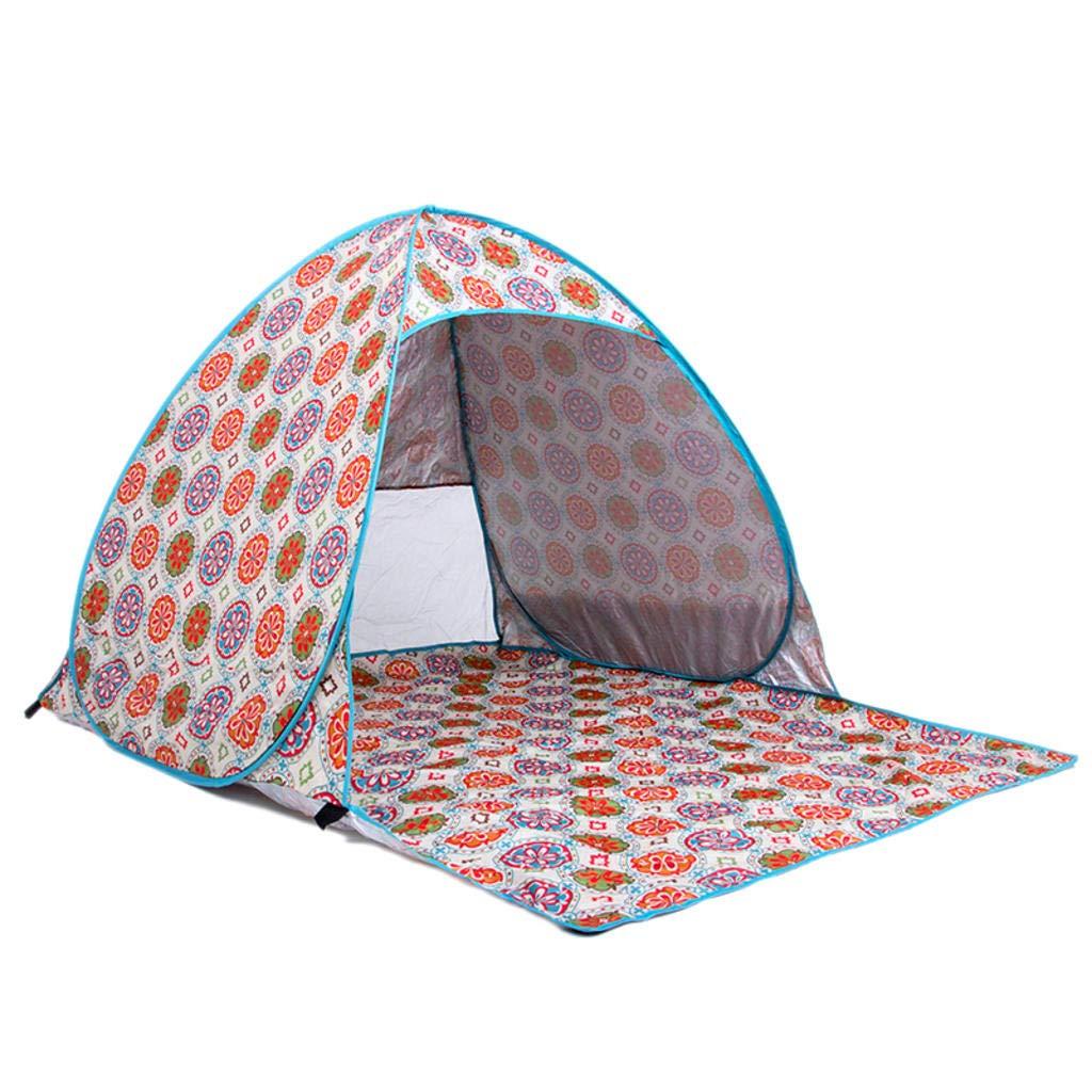 MODKOY Automatisches Zelt des Strand-2 Personen, starker Sonnenschutz-Schutzzelt für Fischen-Strand-Tätigkeiten im Freien