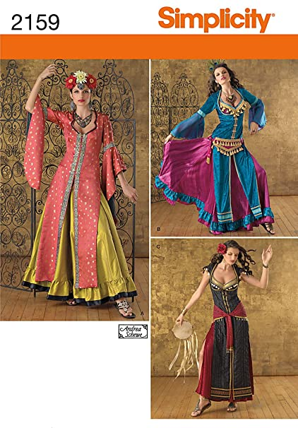 Simplicity R5 14–16–18–20–22 Schnittmuster 2159 Misses Costumes ...