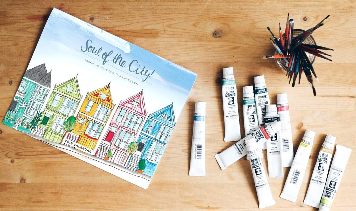 2019 Wall Calendar Soul of the City great gift and stocking stuffer for travelers and readers