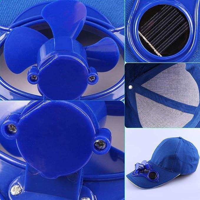 Youtaimei Pequeño Ventilador Gorra de béisbol de enfriamiento con ...