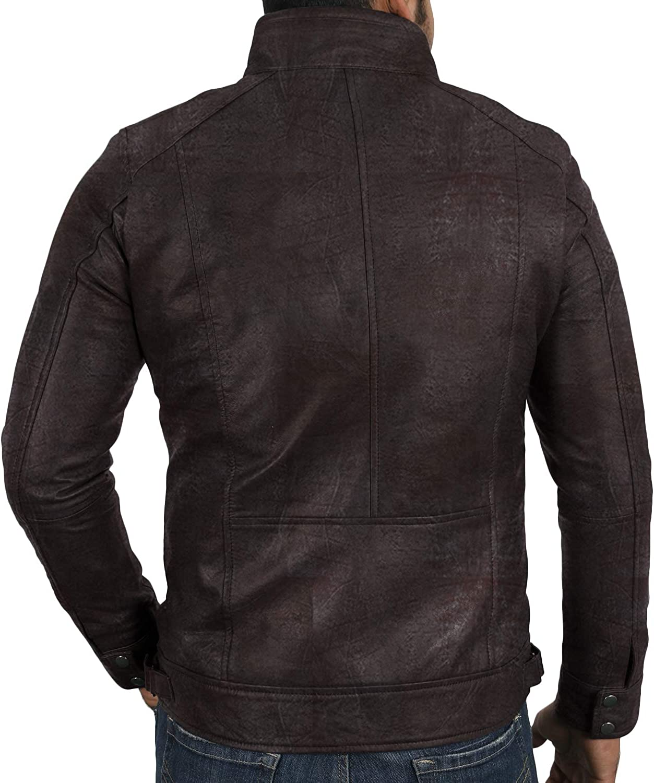 Lasumisura Mens Black Genuine Lambskin Leather Jacket 1510196
