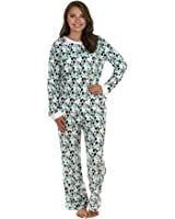 PajamaMania Women's Sleepwear Fleece Long Sleeve Pajama PJ Set