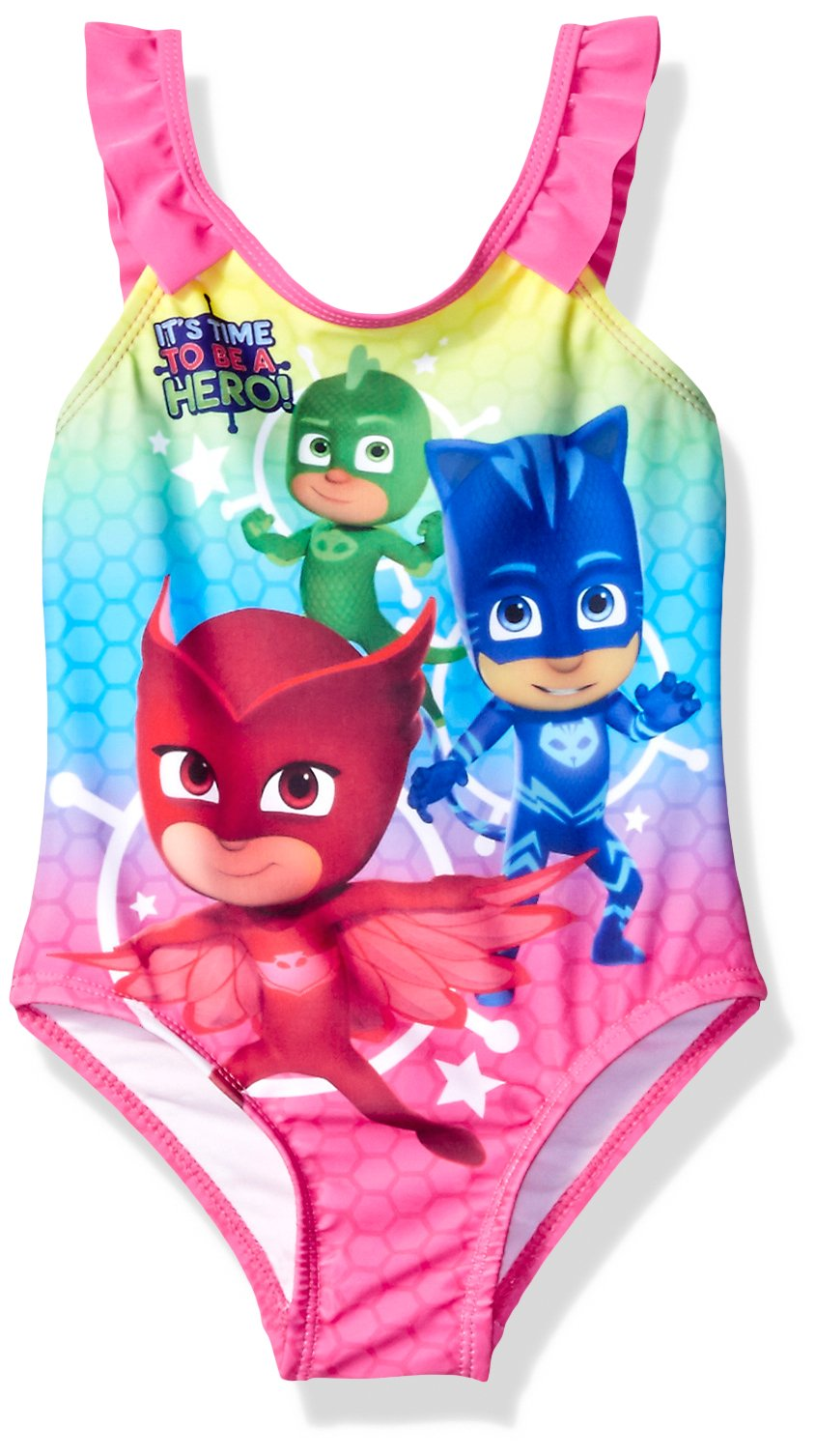 PJ Masks Toddler Girls' Swimsuit, Blue, 2T