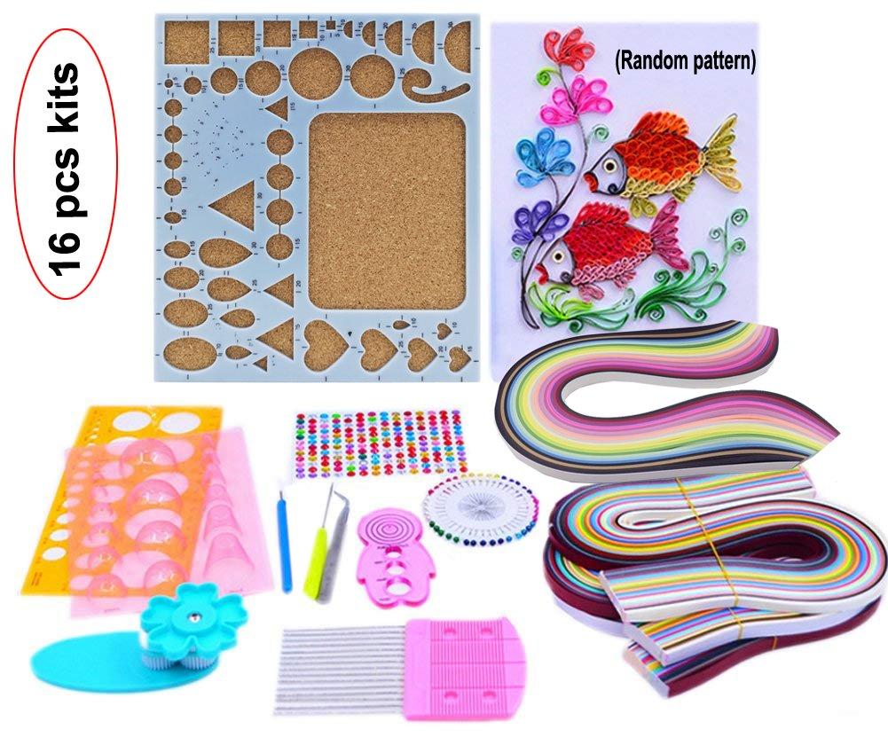 Lesirit Paper Quilling DIY Craft Kit Board Mould Crimper Comb Tools (A) 4336889397