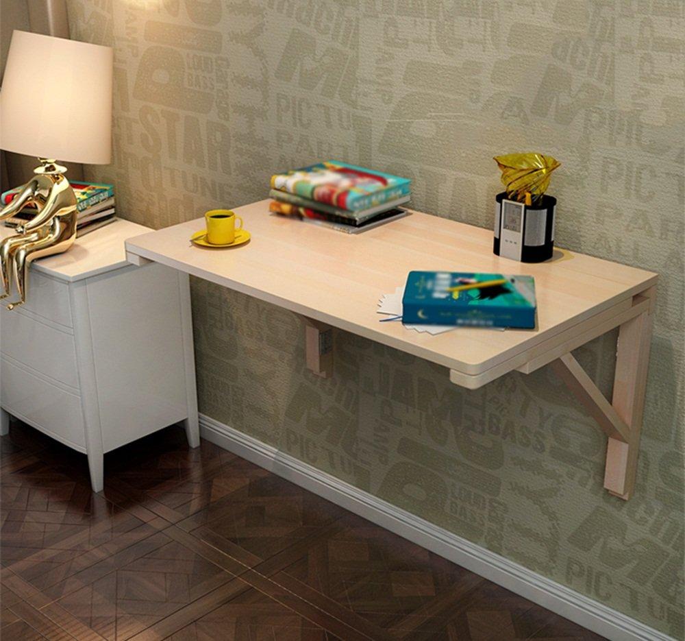 壁掛け式の壁掛けテーブル壁掛けテーブル壁掛け式のコンピュータデスク壁掛け型80 * 50cm(無垢材のワニス) (サイズ さいず : 100*50cm) B07DYMWYSY 100*50cm 100*50cm