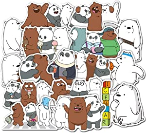 36 Pcs/Pack We Bare Bears Stickers Variety Vinyl Cute Little Bears Sticker Motorcycle Bicycle Luggage Decal Graffiti Patches Skateboard Stickers for Laptop Stickers for Kid