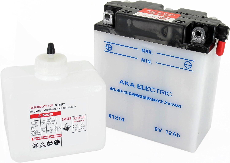 SR50 S83 S51 mit S/äure IWL Troll - f/ür Simson S50 TS150 SR80 MZ ES125 S70 TS250 ES150 S53 TS125 AKA Electric Batterie 6V 12Ah AKA
