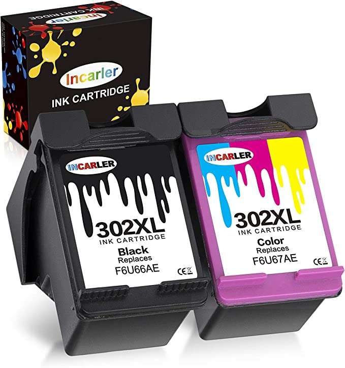 Incarler 302XL Remanufacturado Cartuchos de Tinta Compatible con Tinta HP 302 para HP Deskjet 3630 2130 1110 Officejet 5230 3830 4650 5232 5220 5255 Envy 4520 (1 Negro 1 Tri-Color): Amazon.es: Electrónica