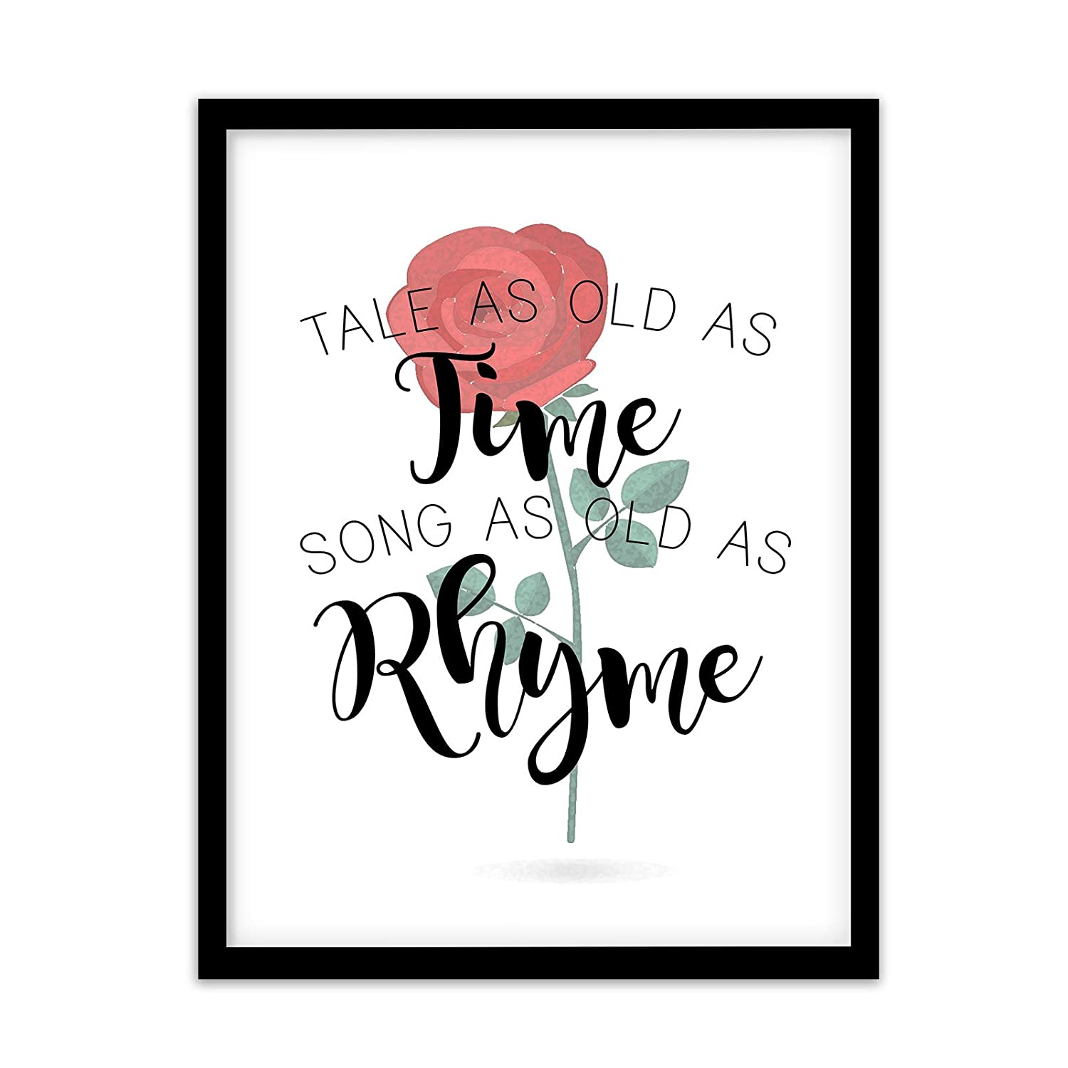 Disney Beauty and The Beast Inspirational Typography Quote Print Wall Art Quote