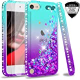 iPod Touch 7 Case, iPod Touch 6 Case, iPod Touch 5 Case with Tempered Glass Screen Protector [2 Pack] for Girls, LeYi…