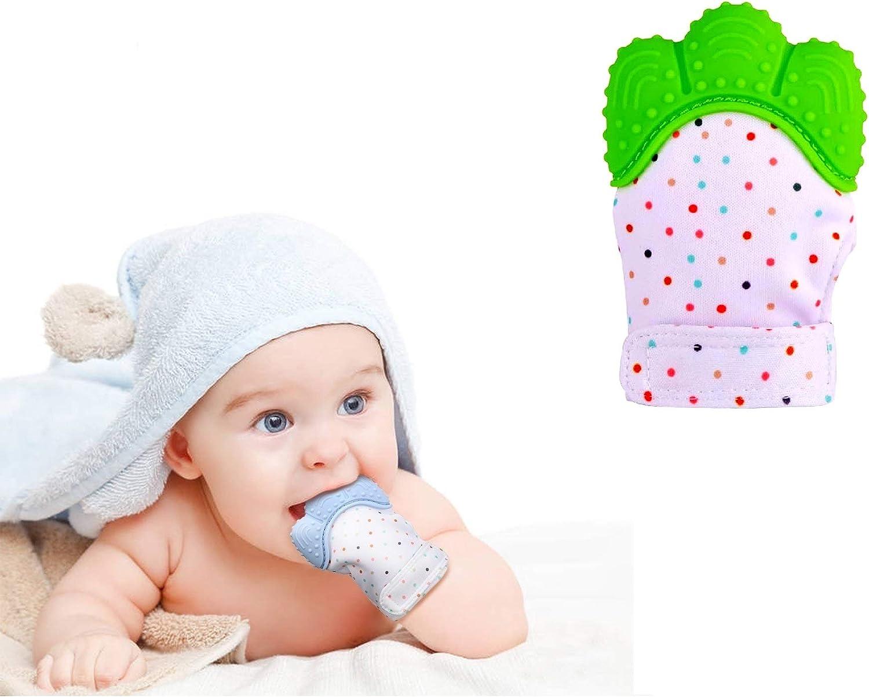 Protege Manos Beb/és mint Pain Relief Tranquilizadora de Edad Funky Planet Baby dentici/ón Manoplas