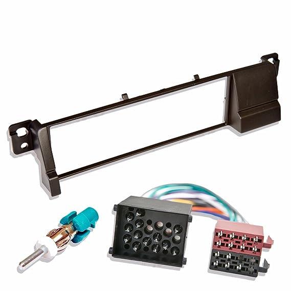 Einbaurahmen tomzz Audio ® 2404-043 Doppel DIN Radioblende für BMW 3er E46 HQ-Optik