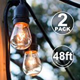 Amazon Price History for:addlon 48FT Outdoor String Lights 2 Pack