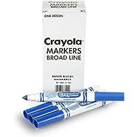 Crayola 12 Count Washable Bulk Markers, Blue