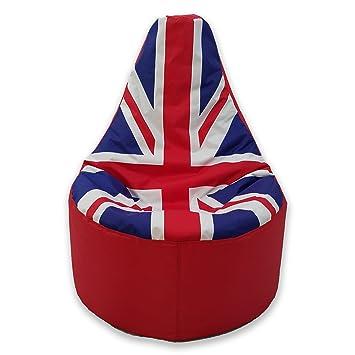 Grand Pouf Poire D'extérieur Pour Adulte Motif Union Jack Amazonfr Mesmerizing Pouf En Anglais