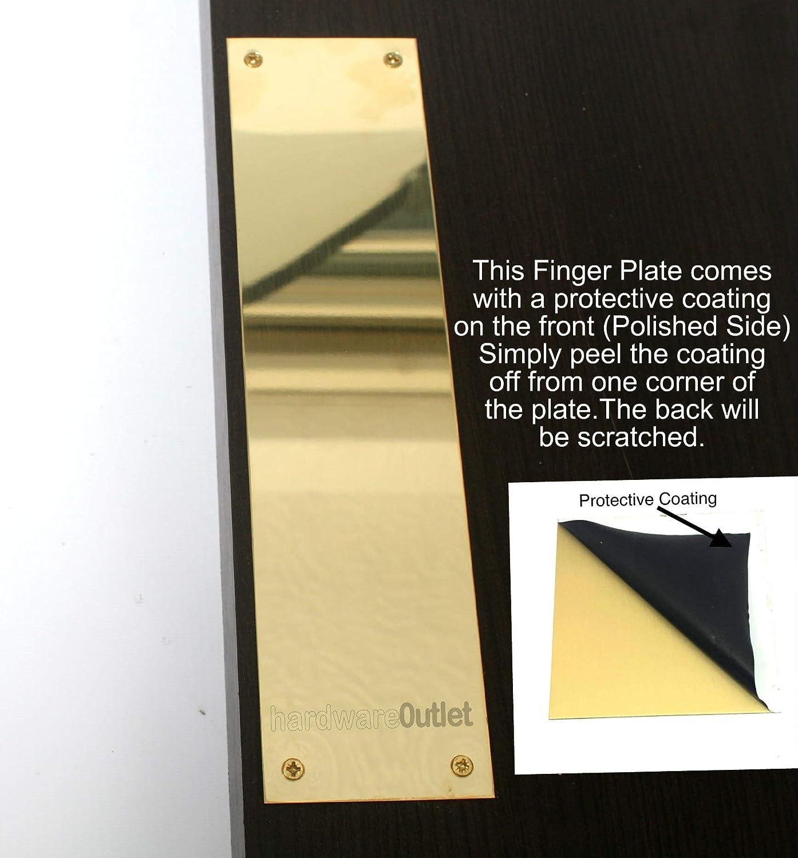 Carlisle Brass M39F 305 x 76 mm Flat Sheet Victorian Finger Plate