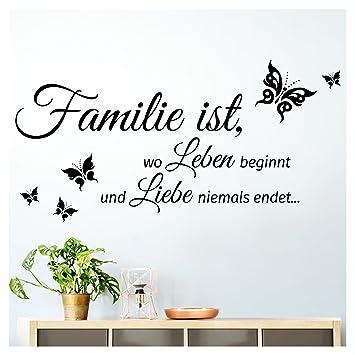 Grandora Wandtattoo Familie Ist Wo Leben Beginnt I Schwarz Bxh 80